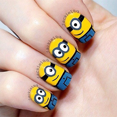 Minions-Nails-2013-2014-Despicable-Me-2-Nail-Art-Designs-8
