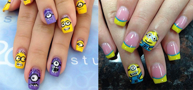 Minions-Nails-2013-2014-Despicable-Me-2-Nail-Art-Designs