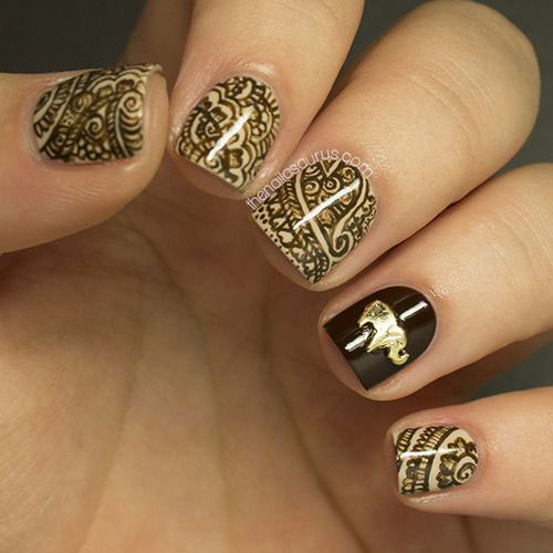 Nail-Art-Designs-For-Beginners-Learners-2013-2014-17