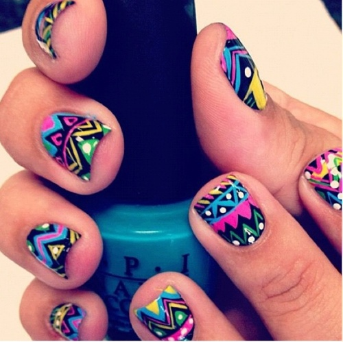 Nail-Art-Designs-For-Beginners-Learners-2013-2014-33