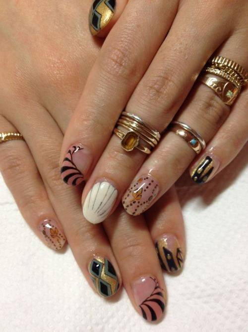 Nail-Art-Designs-For-Beginners-Learners-2013-2014-36