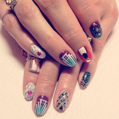 Nail-Art-Designs-For-Beginners-Learners-2013-2014-38