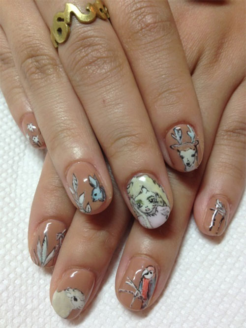 Nail-Art-Designs-For-Beginners-Learners-2013-2014-44
