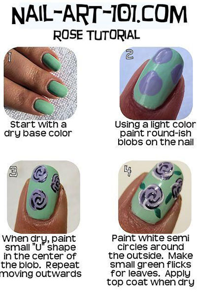 Nail-Art-Tutorials-Step-By-Step-For-Beginners-Learners-2013-2014-10