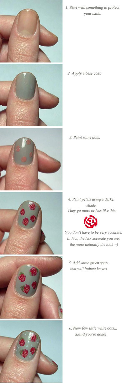 Nail-Art-Tutorials-Step-By-Step-For-Beginners-Learners-2013-2014-2