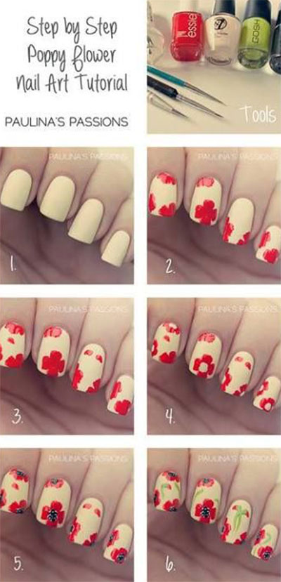 Nail-Art-Tutorials-Step-By-Step-For-Beginners-Learners-2013-2014-3