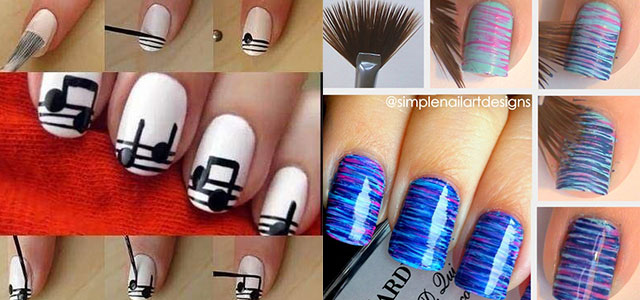 Nail-Art-Tutorials-Step-By-Step-For-Beginners-Learners-2013-2014
