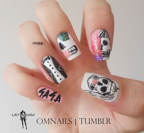 Scary-Halloween-Nail-Art-Designs-Ideas-Stickers-2013-2014-1