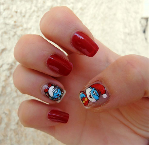 Simple-Easy-Smurf-Nail-Art-Designs-Ideas-2013-2014-12