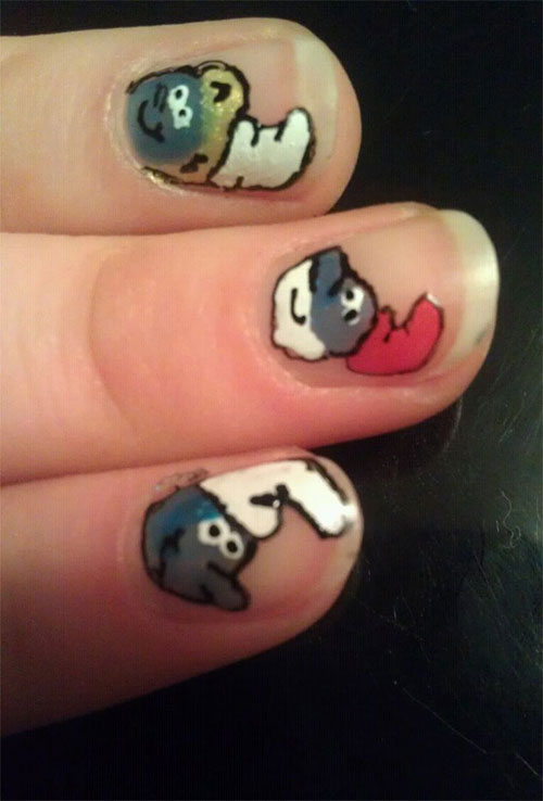 Simple-Easy-Smurf-Nail-Art-Designs-Ideas-2013-2014-14