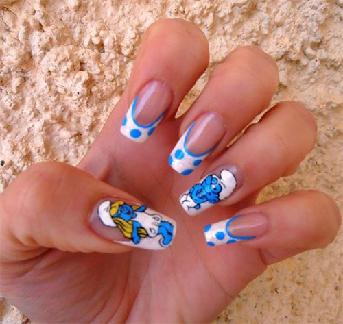 Simple-Easy-Smurf-Nail-Art-Designs-Ideas-2013-2014-4
