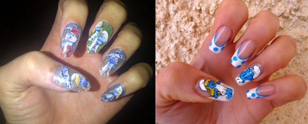 Simple-Easy-Smurf-Nail-Art-Designs-Ideas-2013-2014