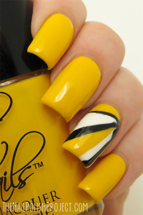 Simple-Easy-Yellow-Nail-Art-Designs-Ideas-2013-2014-1