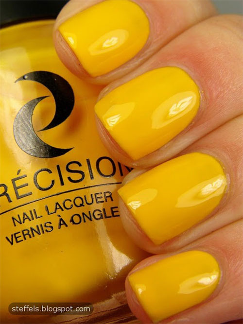 Simple-Easy-Yellow-Nail-Art-Designs-Ideas-2013-2014-2