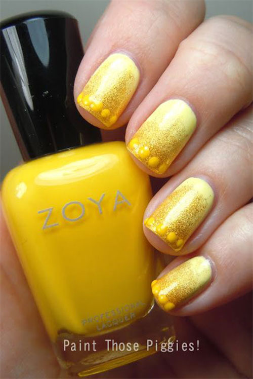 Simple-Easy-Yellow-Nail-Art-Designs-Ideas-2013-2014-3