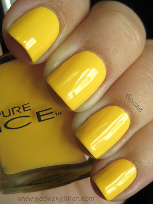 Simple-Easy-Yellow-Nail-Art-Designs-Ideas-2013-2014-5