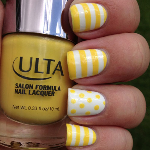 Simple-Easy-Yellow-Nail-Art-Designs-Ideas-2013-2014-7