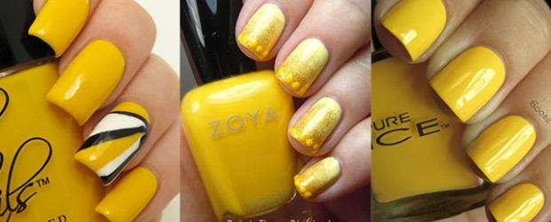 Simple-Easy-Yellow-Nail-Art-Designs-Ideas-2013-2014