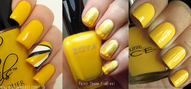 Simple-Easy-Yellow-Nail-Art-Designs-Ideas-2013-2014