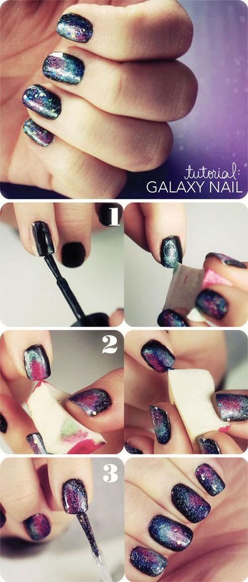 Simple-Nail-Art-Tutorials-For-Beginners-Learners-2013-2014-2
