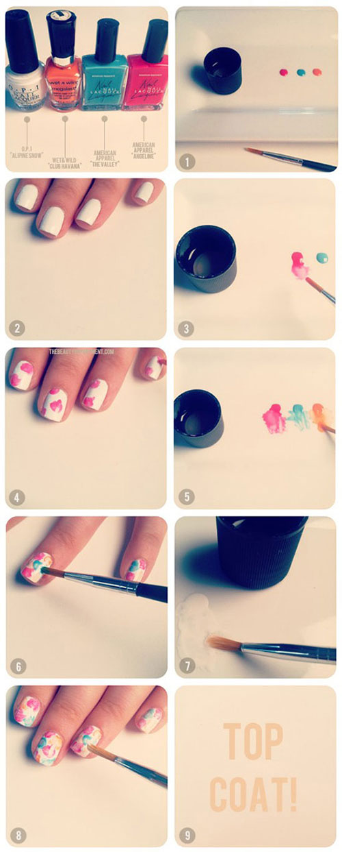 Simple-Nail-Art-Tutorials-For-Beginners-Learners-2013-2014-5