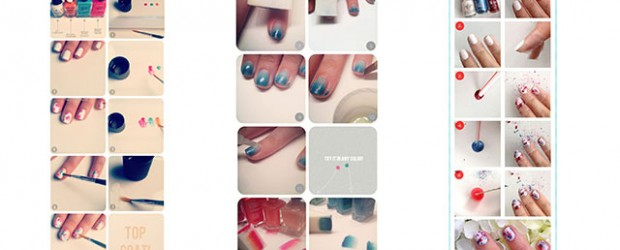 Simple-Nail-Art-Tutorials-For-Beginners-Learners-2013-2014