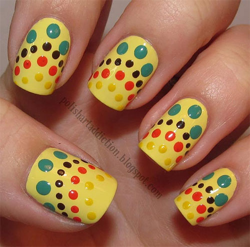 Very-Easy-Yellow-Nail-Art-Designs-Ideas-2013-2014-For-Beginners-Learners-1