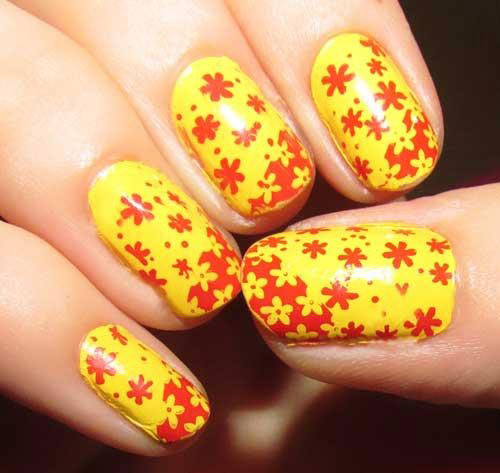 Very-Easy-Yellow-Nail-Art-Designs-Ideas-2013-2014-For-Beginners-Learners-10