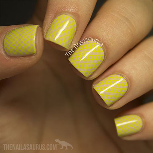 Very-Easy-Yellow-Nail-Art-Designs-Ideas-2013-2014-For-Beginners-Learners-2