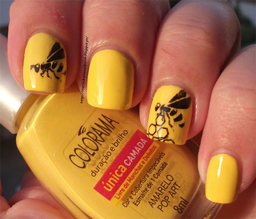 Very-Easy-Yellow-Nail-Art-Designs-Ideas-2013-2014-For-Beginners-Learners-3
