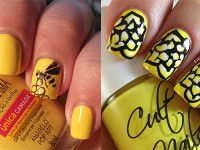 Very-Easy-Yellow-Nail-Art-Designs-Ideas-2013-2014-For-Beginners-Learners