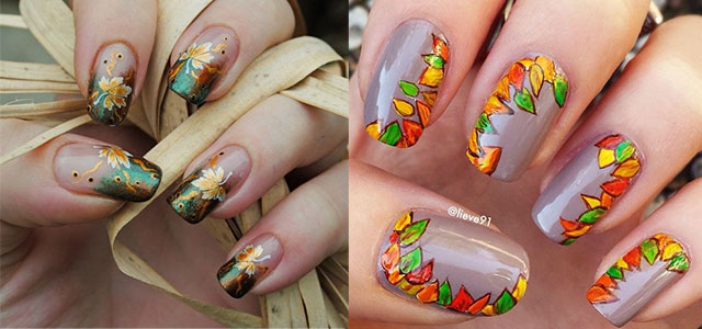 autumn fall inspired nail art designs trends ideas for girls
