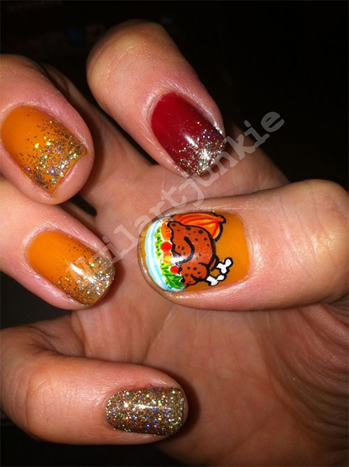 Awesome Thanksgiving Nail Art Designs Ideas 2013 2014 Fabulous