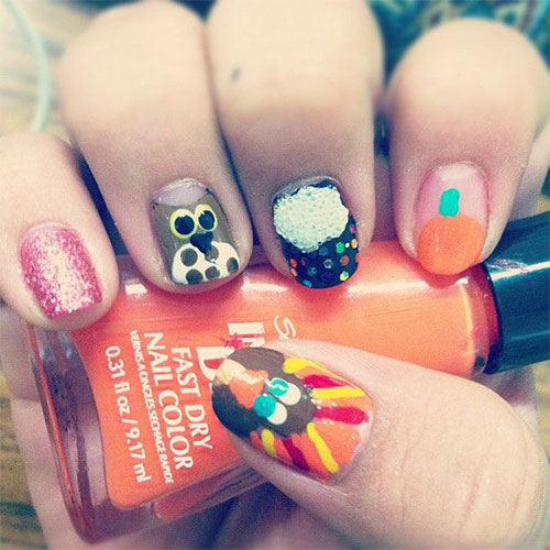 Awesome-Thanksgiving-Nail-Art-Deigns-Ideas-2013-2014-5