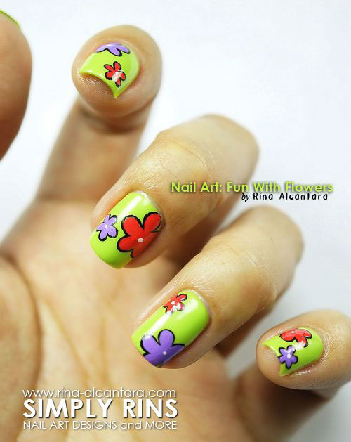 Creative-Flower-Nail-Art-Designs-Ideas-2013-2014-11