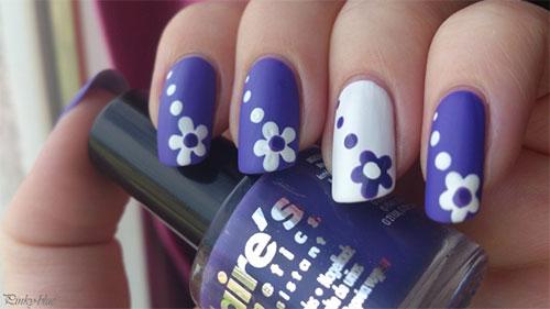 Easy flower nail art fieldstation easy flower nail art prinsesfo Choice Image