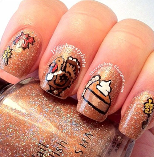 Creative thanksgiving nail art deigns ideas 2013 2014 creative thanksgiving nail art deigns ideas 2013 2014 prinsesfo Image collections