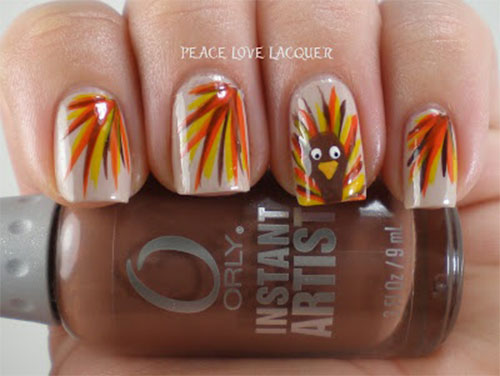 Creative Thanksgiving Nail Art Deigns Ideas 2013 2014 Fabulous