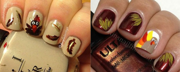 Creative Thanksgiving Nail Art Deigns & Ideas 2013/ 2014 - Creative Thanksgiving Nail Art Ideas Fabulous Nail Art Designs
