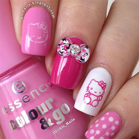 Cute hello kitty nail art designs ideas 2013 2014 fabulous cute hello kitty nail art designs ideas 2013 prinsesfo Choice Image