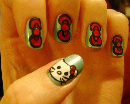 Cute-Hello-Kitty-Nail-Art-Designs-Ideas-2013-2014-10