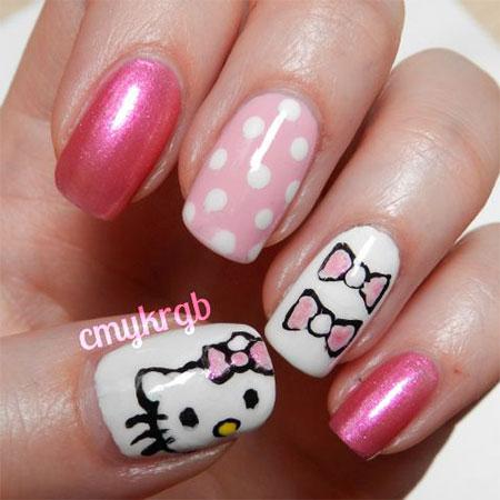 Cute-Hello-Kitty-Nail-Art-Designs-Ideas-2013-2014-7