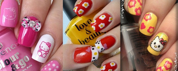 Hello Kitty Fabulous Nail Art Designs
