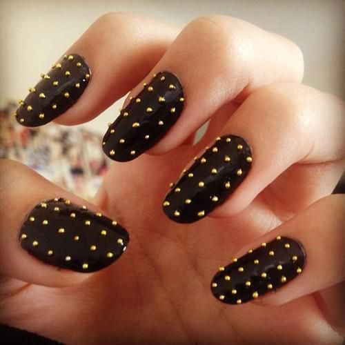 Easy Black Nail Art Designs & Ideas 2013/ 2014 | Fabulous ...