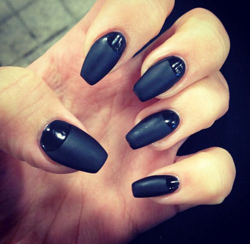 easy black nail art designs ideas 2013 2014 simple nail design ideas - Simple Nail Design Ideas