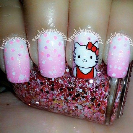 Easy-Hello-Kitty-Nail-Art-Designs-Ideas-Stickers-2013-2014-3D-Nails-1