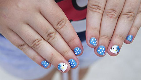 Easy-Hello-Kitty-Nail-Art-Designs-Ideas-Stickers-2013-2014-3D-Nails-10