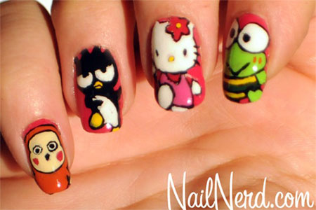 Easy-Hello-Kitty-Nail-Art-Designs-Ideas-Stickers-2013-2014-3D-Nails-5