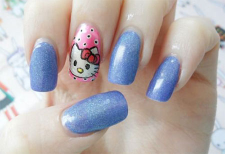 Easy-Hello-Kitty-Nail-Art-Designs-Ideas-Stickers-2013-2014-3D-Nails-6