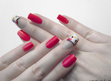 Easy-Hello-Kitty-Nail-Art-Designs-Ideas-Stickers-2013-2014-3D-Nails-8